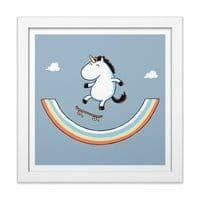 Rainbow Skate - white-square-framed-print - small view