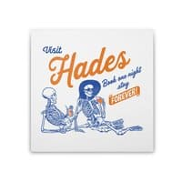 Visit Hades - square-stretched-canvas - small view