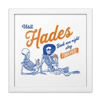 Visit Hades - white-square-framed-print - small view
