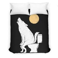 Howling At Night - duvet-cover - small view