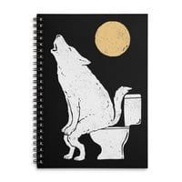 Howling At Night - spiral-notebook - small view