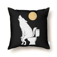 Howling At Night - throw-pillow - small view
