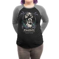 Spooky Beach - triblend-34-sleeve-raglan-tee - small view
