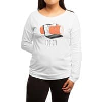 Log Off - womens-long-sleeve-terry-scoop - small view