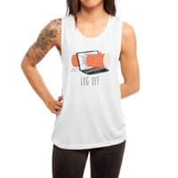 Log Off - womens-muscle-tank - small view