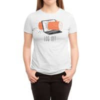 Log Off - womens-triblend-tee - small view