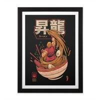 Spicy Shoryu Noodles - black-vertical-framed-print - small view