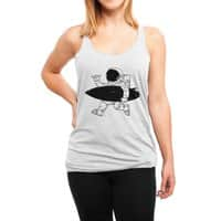 Space Surfer - womens-triblend-racerback-tank - small view