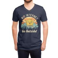 No Internet Vibes! - vneck - small view