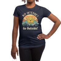 No Internet Vibes! - womens-regular-tee - small view