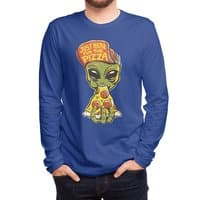 Just Here For Pizza - mens-long-sleeve-tee - small view