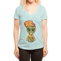 Just Here For Pizza - womens-deep-v-neck - small view