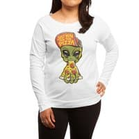 Just Here For Pizza - womens-long-sleeve-terry-scoop - small view