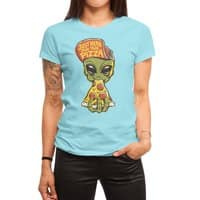 Just Here For Pizza - womens-regular-tee - small view