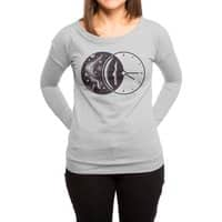 Space and Time - womens-long-sleeve-terry-scoop - small view