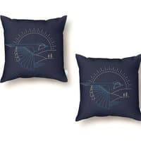 Blue Jay - throw-pillow - small view