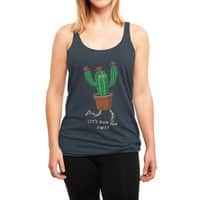 Let's run away - womens-triblend-racerback-tank - small view