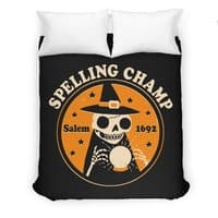 Spelling Champ - duvet-cover - small view