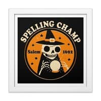 Spelling Champ - white-square-framed-print - small view