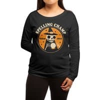 Spelling Champ - womens-long-sleeve-terry-scoop - small view