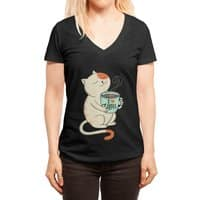 Cat - womens-deep-v-neck - small view