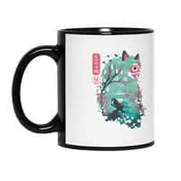 Ukiyo e Princess - black-mug - small view