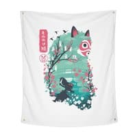 Ukiyo e Princess - indoor-wall-tapestry-vertical - small view