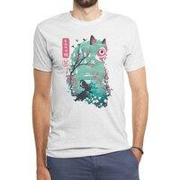 Ukiyo e Princess - mens-triblend-tee - small view