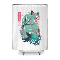 Ukiyo e Princess - shower-curtain - small view