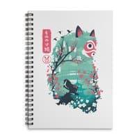 Ukiyo e Princess - spiral-notebook - small view