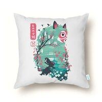 Ukiyo e Princess - throw-pillow - small view