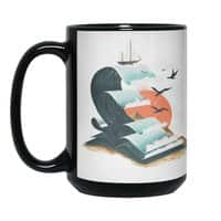 Waves of Knowledge - black-mug - small view