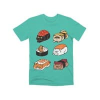 Sushi Persian Cat - mens-premium-tee - small view