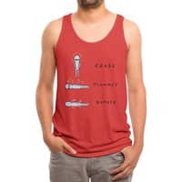 STRANGE PLANET SPECIAL PRODUCT: CEASE PLUMMET ROTATE - mens-triblend-tank - small view