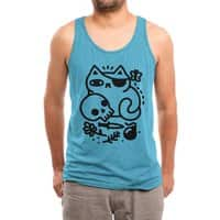 Badass Cat - mens-triblend-tank - small view