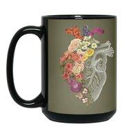 Flower Heart Spring - black-mug - small view