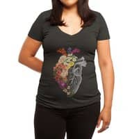 Flower Heart Spring - womens-deep-v-neck - small view