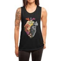 Flower Heart Spring - womens-muscle-tank - small view