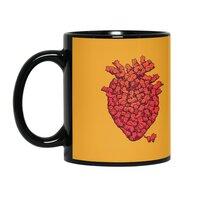 I Love Cat Heart - black-mug - small view