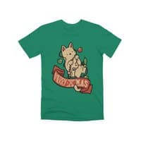 Merry Xmas Cat - mens-premium-tee - small view