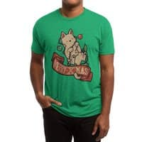 Merry Xmas Cat - mens-triblend-tee - small view