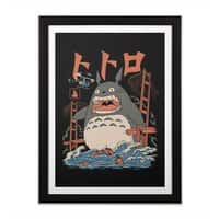 The Neighbor's Attack - black-vertical-framed-print - small view