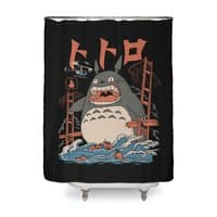 The Neighbor's Attack - shower-curtain - small view