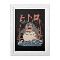 The Neighbor's Attack - white-vertical-framed-print - small view