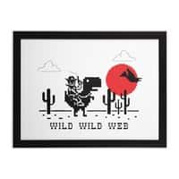 Wild Wild Web - black-horizontal-framed-print - small view