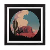Desert Rider - black-square-framed-print - small view