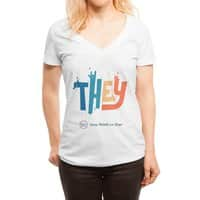 THEY ROCKS - womens-deep-v-neck - small view