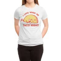 TACO NIGHT - womens-triblend-tee - small view