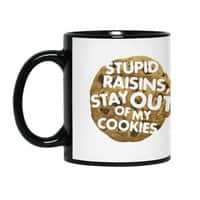 Stupid raisins, stay out of my cookies - black-mug - small view