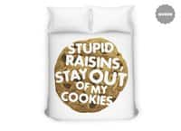 Stupid raisins, stay out of my cookies - duvet-cover - small view